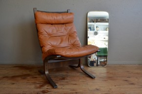 Ingmar Relling Fauteuil siesta design scandinave minimaliste années 60 Norvège Westnofa cuir Lounge série