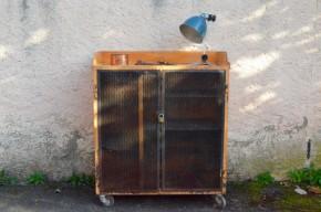 Desserte d'atelier meuble de métier industriel vintage rétro french furniture wooden craft garage