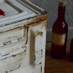 Caisse en métal industriel indus militaire trousse de secour cabinet militaria vintage industrial metal box