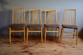 Chaises scandinaves vintage rétro teck années 60 Danemark scandinavian chairs mobilier mix and match déparaillé