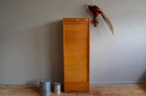 Meuble colonne meuble à rideau classeur trieur meuble d'administration années 60 rétro vintage antic french furniture