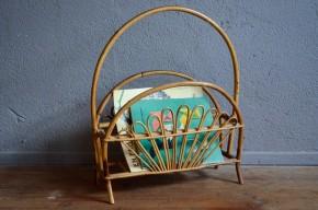 Porte revue en rotin mignon vintage et bohème accessoire déco pour salon  Rattan rack french