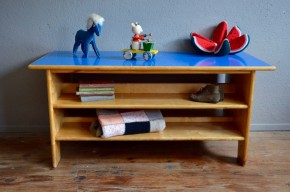 Enfilade étagère enfant meuble TV Hifi mobilier montessori années 60 sideboard kid furniture school shelves