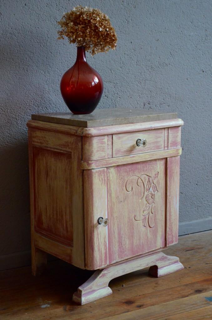 Table de nuit Denise  L'atelier Belle Lurette, rénovation