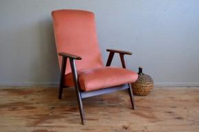 Fauteuil vintage bohème rétro années 50 pieds compasrose antic french armchair midcentury bohemian deco midcentury
