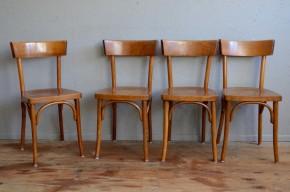Chaise bistrot vintage rétro années 50 restaurant lot de 4 série homogène brasserie
