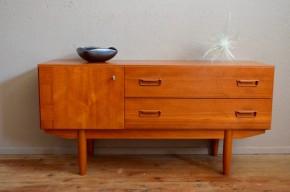 Enfilade bahut bas sideboard vintage scandinave teck mobilier meuble TV ancien livraison possible