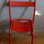 Chaises Tolix rouge