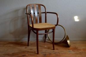 Fauteuil de bureau style Art déco bois courbé rotin osier hêtre style Thonet ou Joseph Hoffmann armchair french antic
