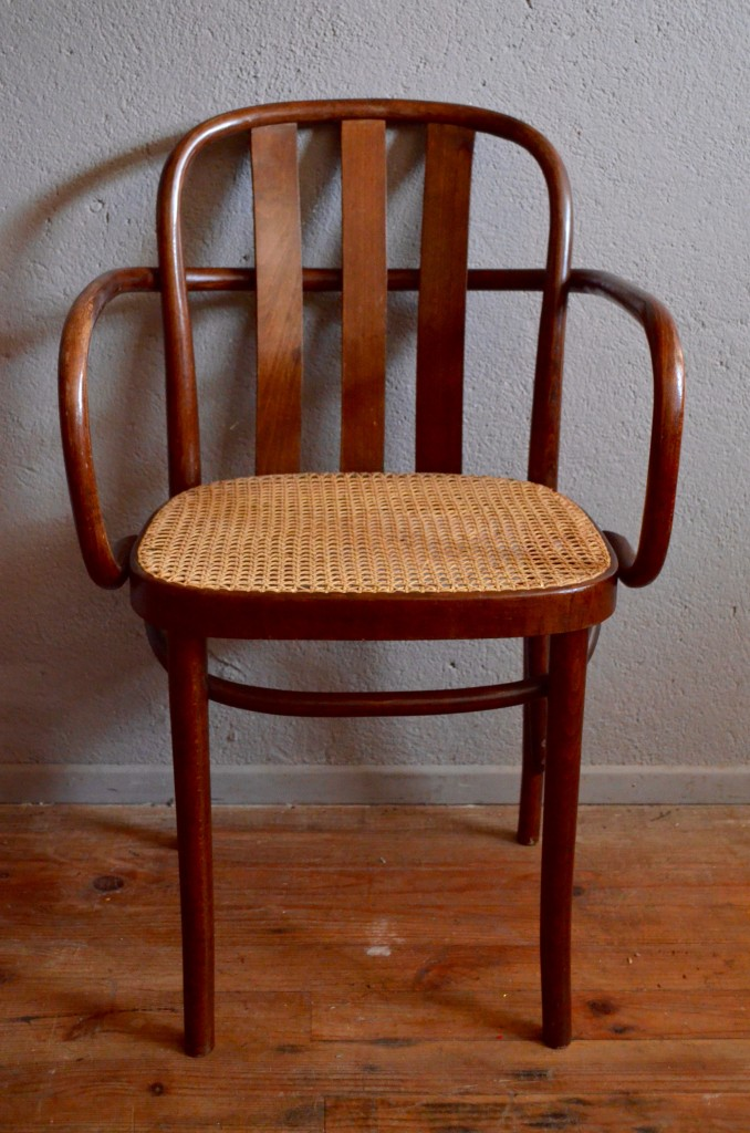 Fauteuil De Bureau Style Art Dco Bois Courb Rotin Osier Htre Thonet Ou Joseph Hoffmann