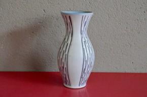 Vase années 60 soixante vintage flower vase art germany design allemand gris signé