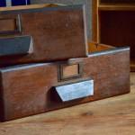 Tiroir meuble de métier atelier indus solution rangement vide poche bois vintage étagère