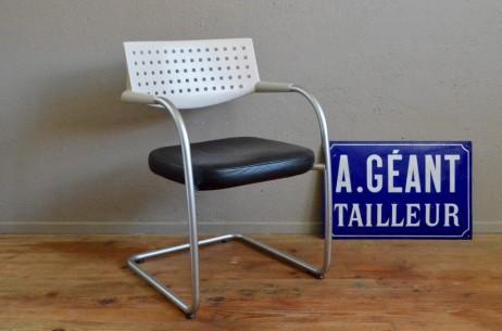 Chaise Visavis pour Vitra Antonio Citterio et Glen Oliver Loew design contemporain confortable fauteuil signé assise noire