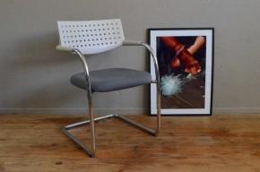 C haise Visavis pour Vitra Antonio Citterio et Glen Oliver Loew design contemporain confortable fauteuil signé grise suedine