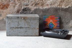 Caisse caisses rangement disque vinyle 33T vintage garage métal punk rock indus garage