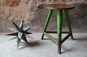 Tabouret indus Rowag Bauhaus Roger Wagner Stool atelier design allemand années 1920 métal et bois