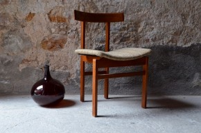 Chaise 193 Inger Klingenberg par France and Son made in Danemark danish design dinning chair scandinave teck années 1960