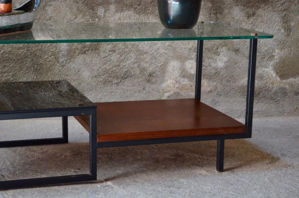 table basse georges frydman efa moderniste design travail franais aprs guerre le corbusier low table