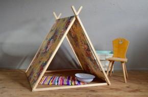 Tente jouet enfant tipi vintage rétro design A frame Tent plein air cadeau enfant chambre