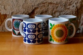 Mug tasse collection publicitaire vintage esso renault mix and match dépareillés vintage colorés