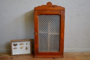 Armoire de salle de bain  pharmacie vintage rétro shabby chic bois brut antique art déco french meuble wall decoration  medecin cabinet
