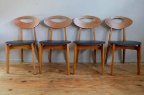 Série de chaise de Roger Landault pour Sentou vintage french design modernist reconstruction