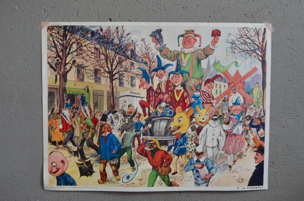 """Affiche scolaire """"Carnaval-chez le tailleur"""""""