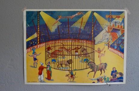 Affiche scolaire Thèmes :La rentrée des classe le cirque  vintage poster pédagogique salle de classe décoration école