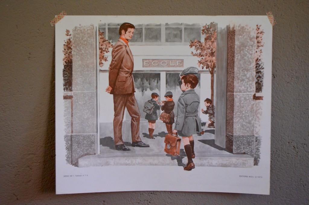 """Affiche scolaire """"La rentrée-Au verger"""""""