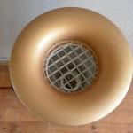Lampe de sol forme champignon space age senventies plastique vintage design blanc doré