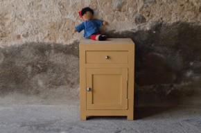 Chevet vintage rétro art déco années 40 brun bohème french brocante chambre enfant