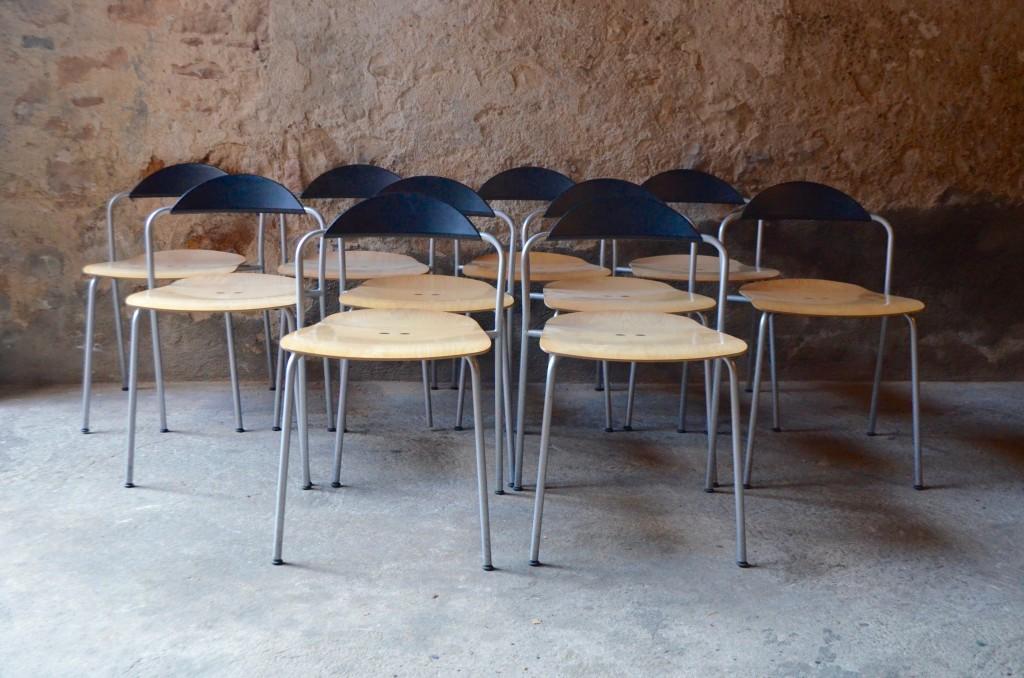 Série de 10 chaises Vico Magistretti