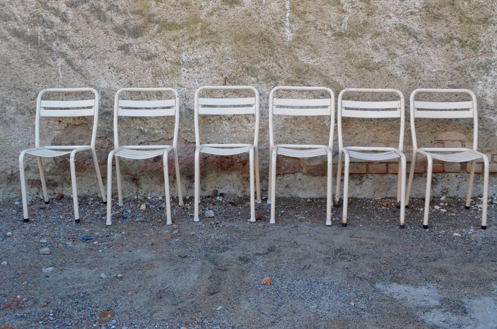6 Chaises Tolix Blanches