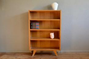 Bibliothèque  enfant vintage moderniste chêne années cinquante 60 meuble scandinave