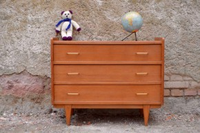 Commode vintage rétro 3 tiroirs commode à langer clair antic chest of drawers french furniture scandinavian design