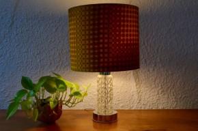 Lampe sixties pied verre psychédélique seventies années 70 pop stand lamp vintage rétro