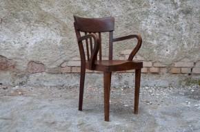 Fauteuil armchair de bureau américain ancien style  art déco 1950 banquier notaire bois massif foncé meubles Levitan