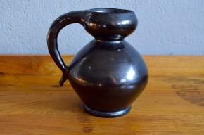 Poterie de Provence vase pichet pot noir ancien vernissé déco rustique