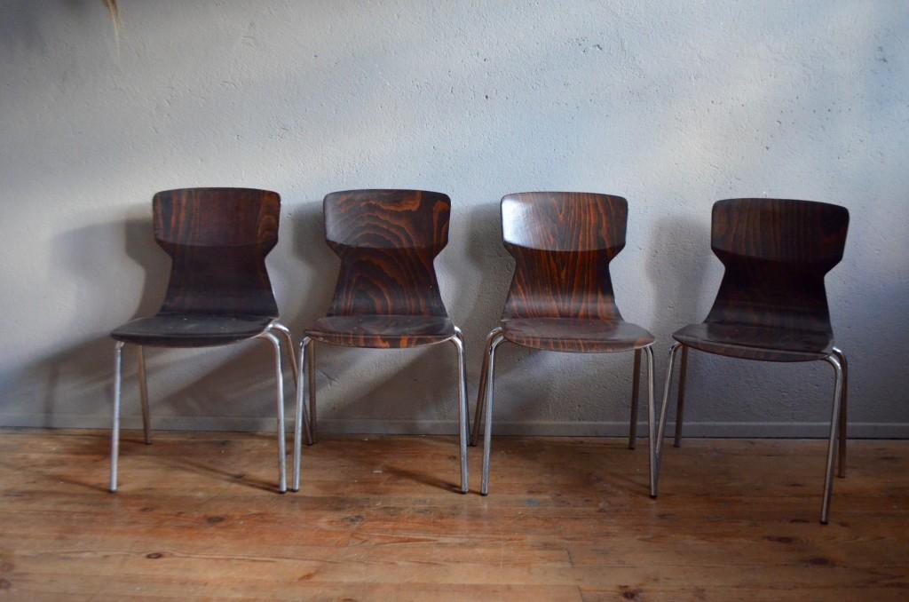 Série de 4 chaises Clark