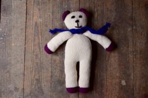 Poupée doudou au crochet rétro bohème artisanal poésie cadeau de naissance bébé crocheted blankie baby doll birth gift french craft
