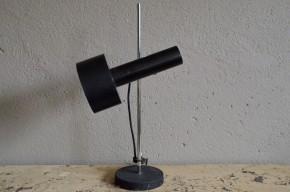 Lampe de table Lampe de bureau style design métal noire 1960 space age orientable blanche chrome
