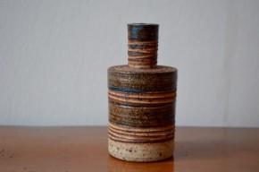 Vase  grès poterie danemark danois brutaliste wabi sabi soliflore céramiste