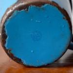Pot émaillé bleu