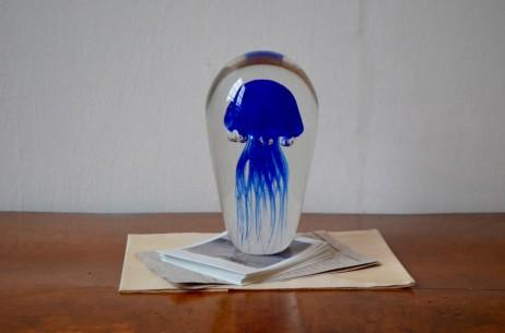 Presse papiers sulfure verre soufflé méduse curiosité medusa méduse clipboard danemark deco