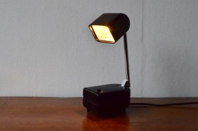 Lampe de bureau Lampette lampe pilule noire vintage modulable orientable veilleuse vintage  Space age Futurisme design