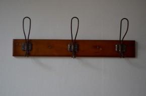 Porte-manteaux vintage rétro patères années 30 40 art déco triple bistrot