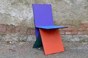"""Chaise """"Eva"""" design Verner Panton pour IKEA Années 90 style Memphis minimaliste couleurs Kellco Suisse mélaminé design chair 1990 rare colored"""