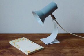 Lampe  de bureau  années soixante rotule orientable grise vintage moderniste space age constructivisme