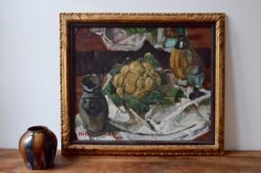 Médard Maertens Nature Morte au choux fleur Fauvisme peintre belge école de brabançon huile tableau peinture