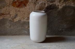 Vase Blanc Bay  XXL céramique des années 60 70  allemand signé W germany numéroté collection déco design allemand